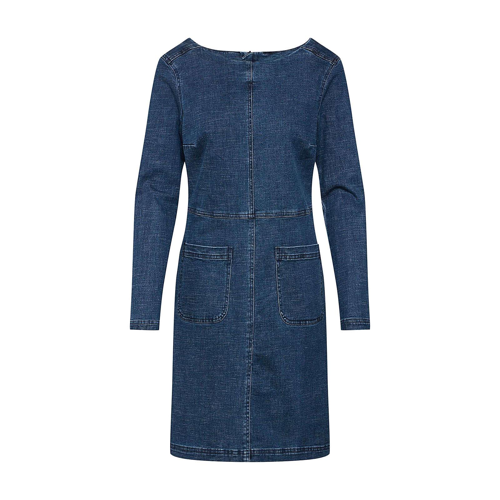 EDC BY ESPRIT Kleid Jeanskleider blue denim Damen Gr. 38