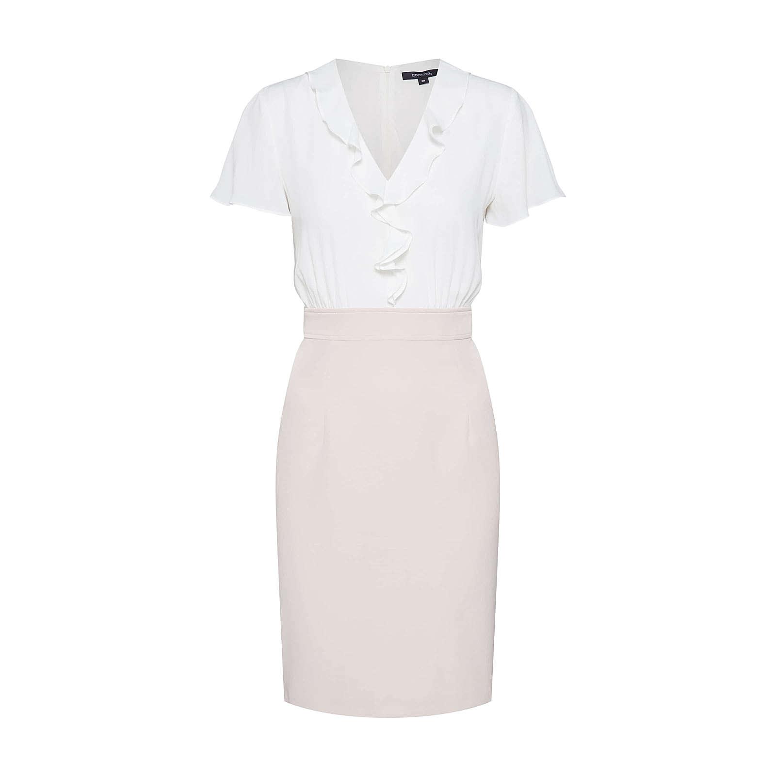 COMMA Blusenkleid Blusenkleider weiß Damen Gr. 40