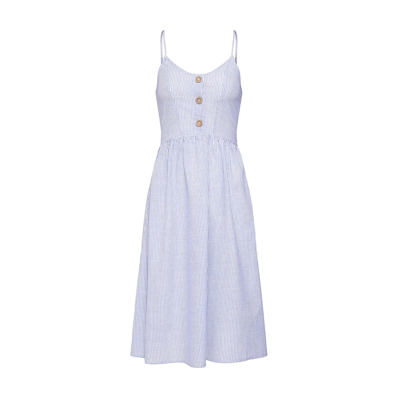 ONLY Sommerkleid Sommerkleider weiß Damen Gr. 40