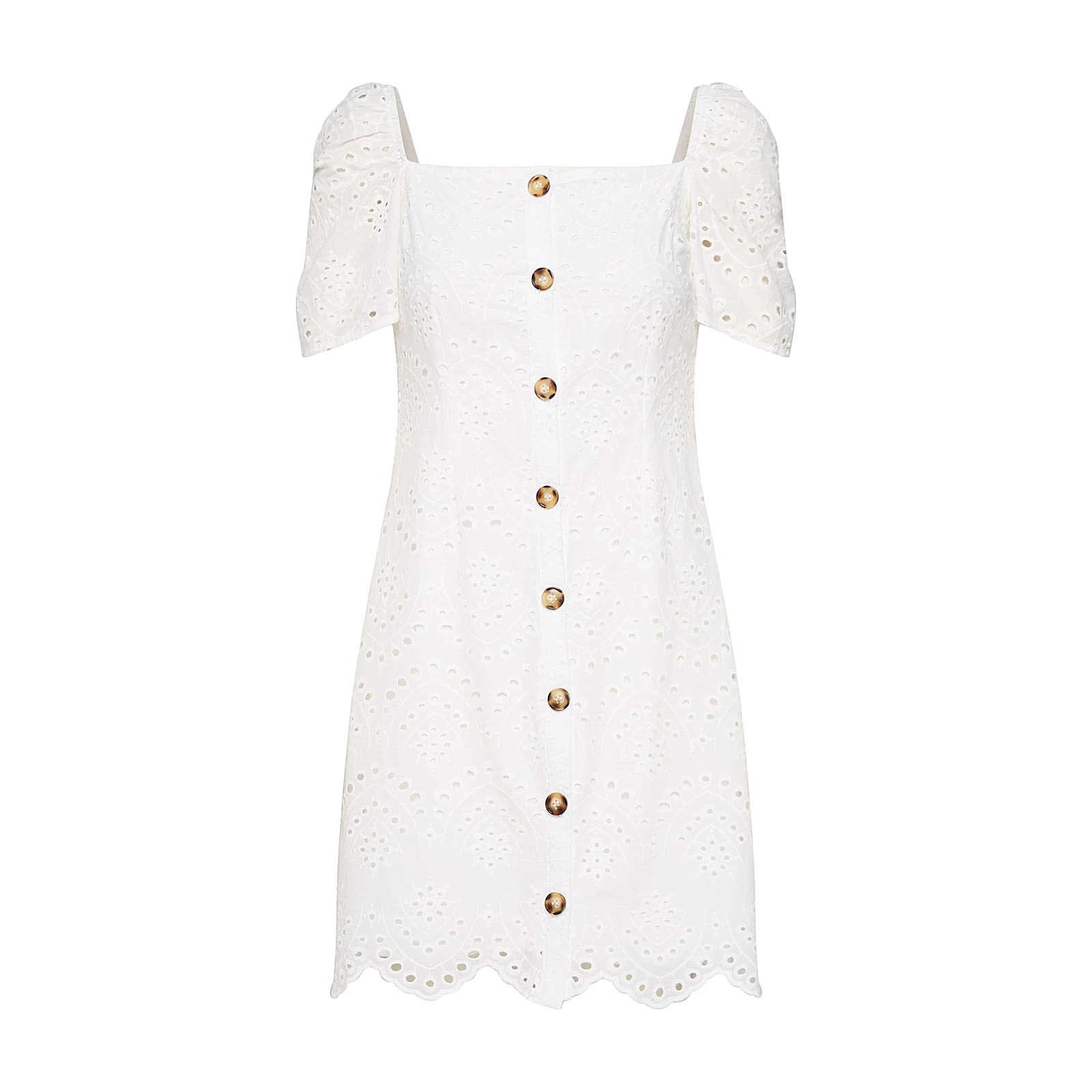 Missguided Sommerkleid Sommerkleider weiß Damen Gr. 42