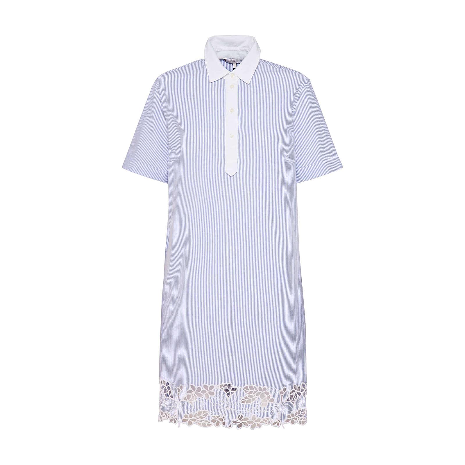 TOMMY HILFIGER Blusenkleid Evie Blusenkleider weiß Damen Gr. 36