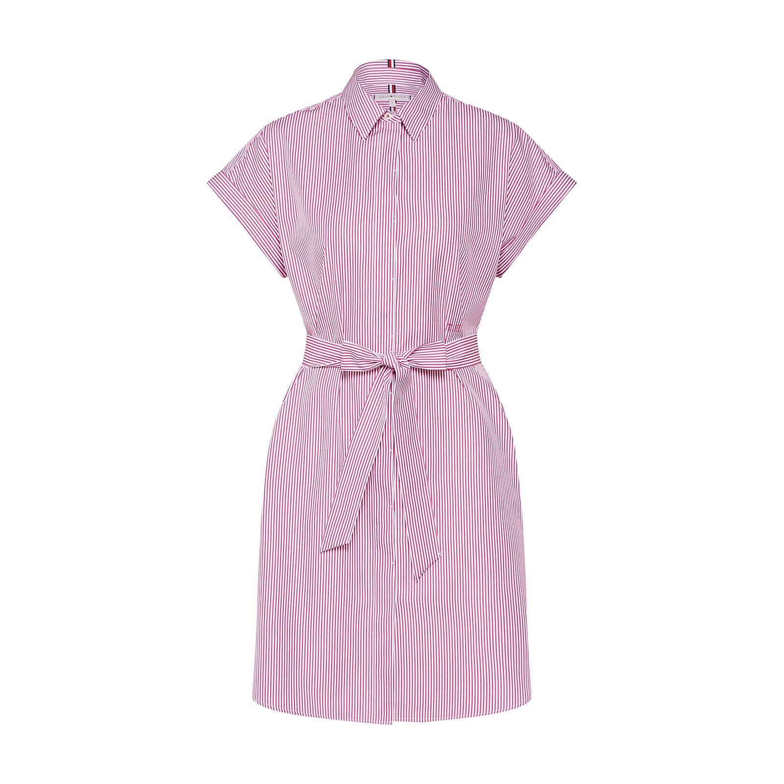 TOMMY HILFIGER Blusenkleid Blusenkleider weiß Damen Gr. 36