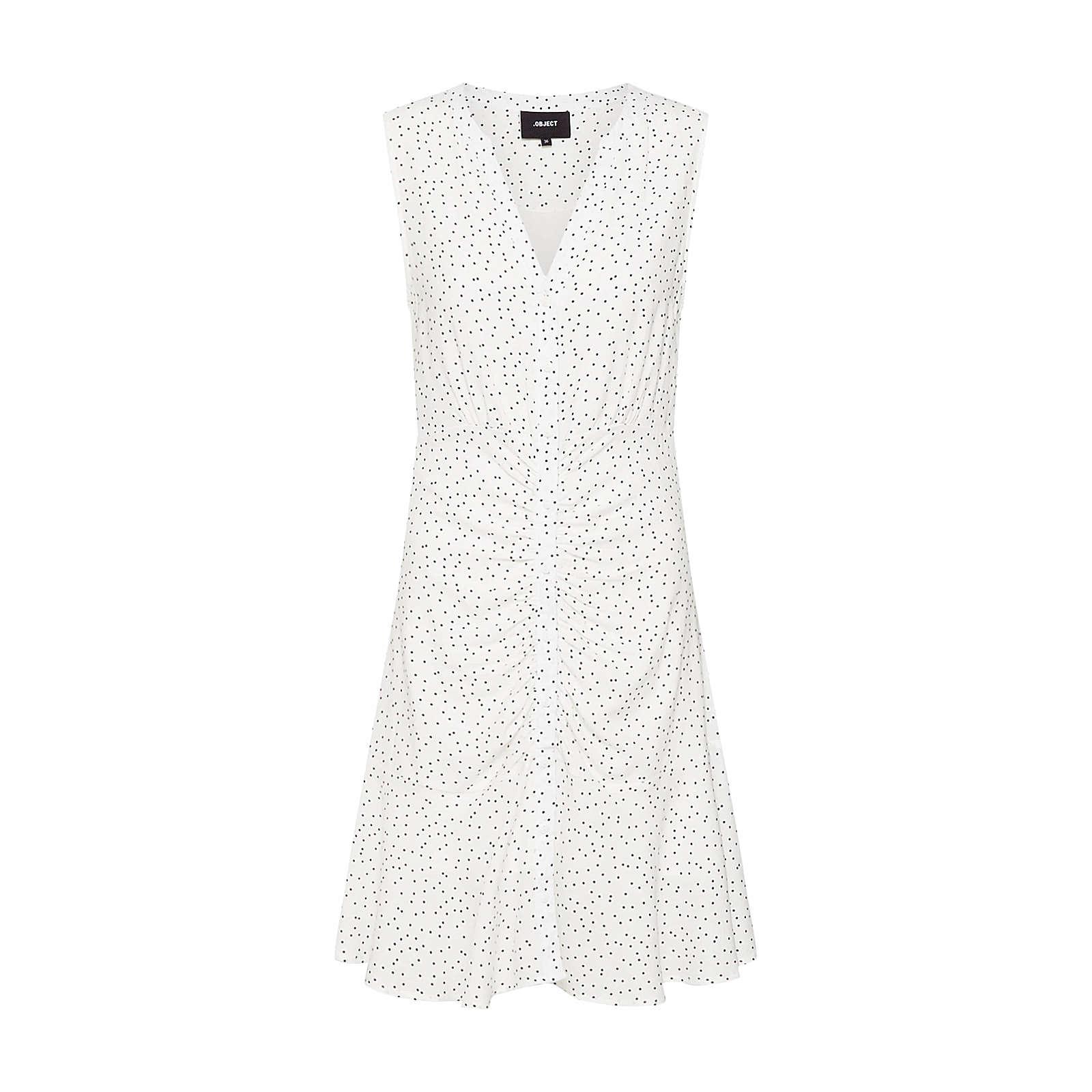 OBJECT Blusenkleid OBJCLARISSA Blusenkleider weiß Damen Gr. 36