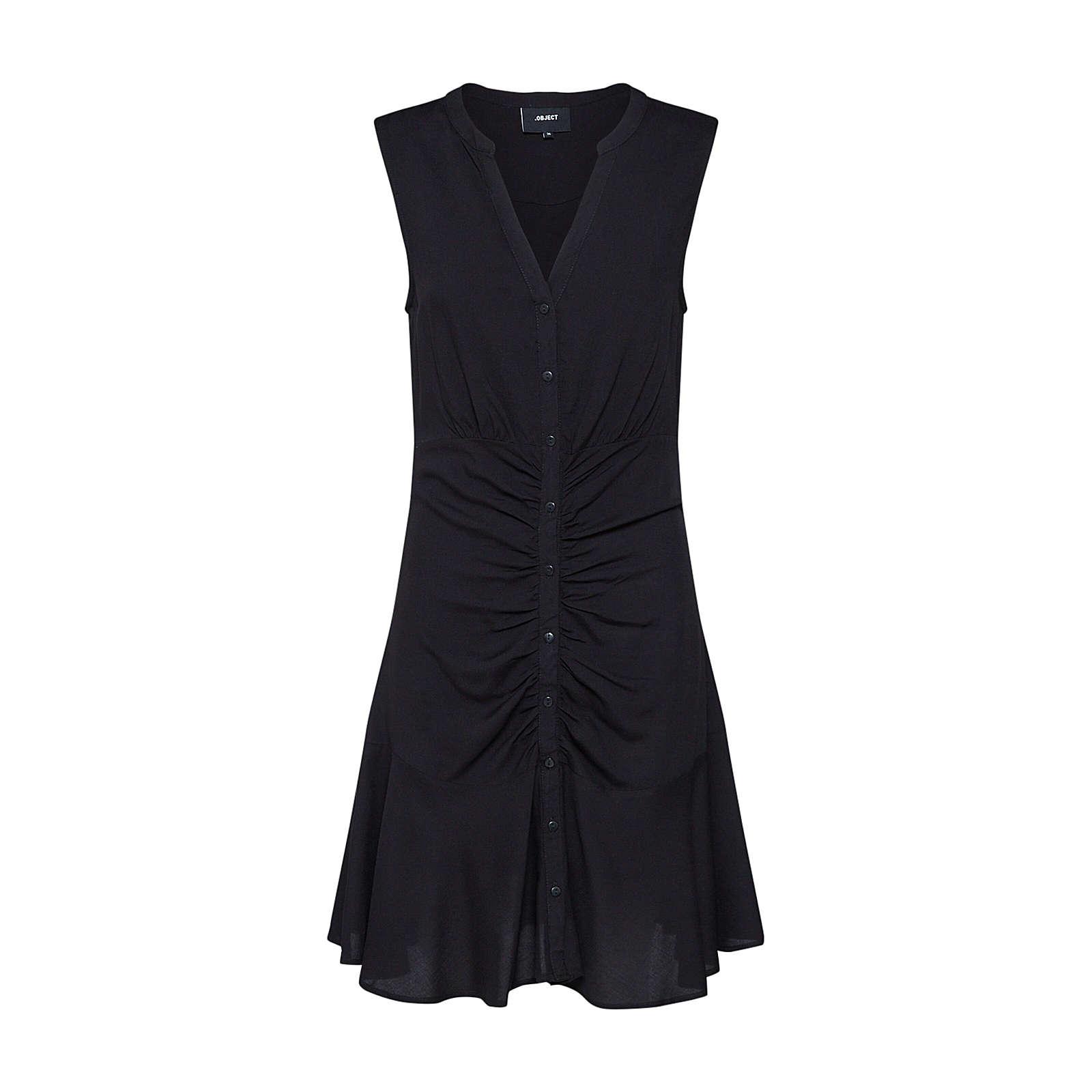 OBJECT Blusenkleid OBJCLARISSA Blusenkleider schwarz Damen Gr. 36
