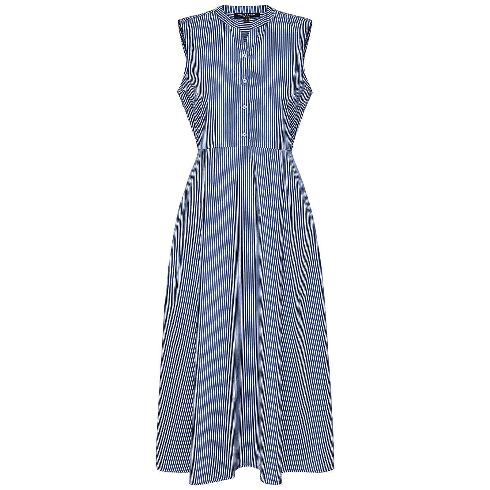 SELECTED FEMME Blusenkleid Althea Blusenkleider weiß Damen Gr. 40