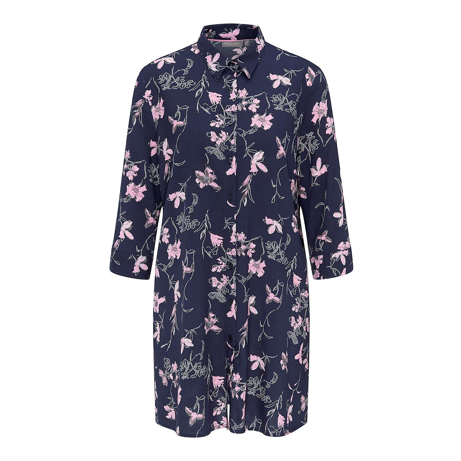 BROADWAY NYC FASHION Blusenkleid PALMYRA Blusenkleider weiß Damen Gr. 38