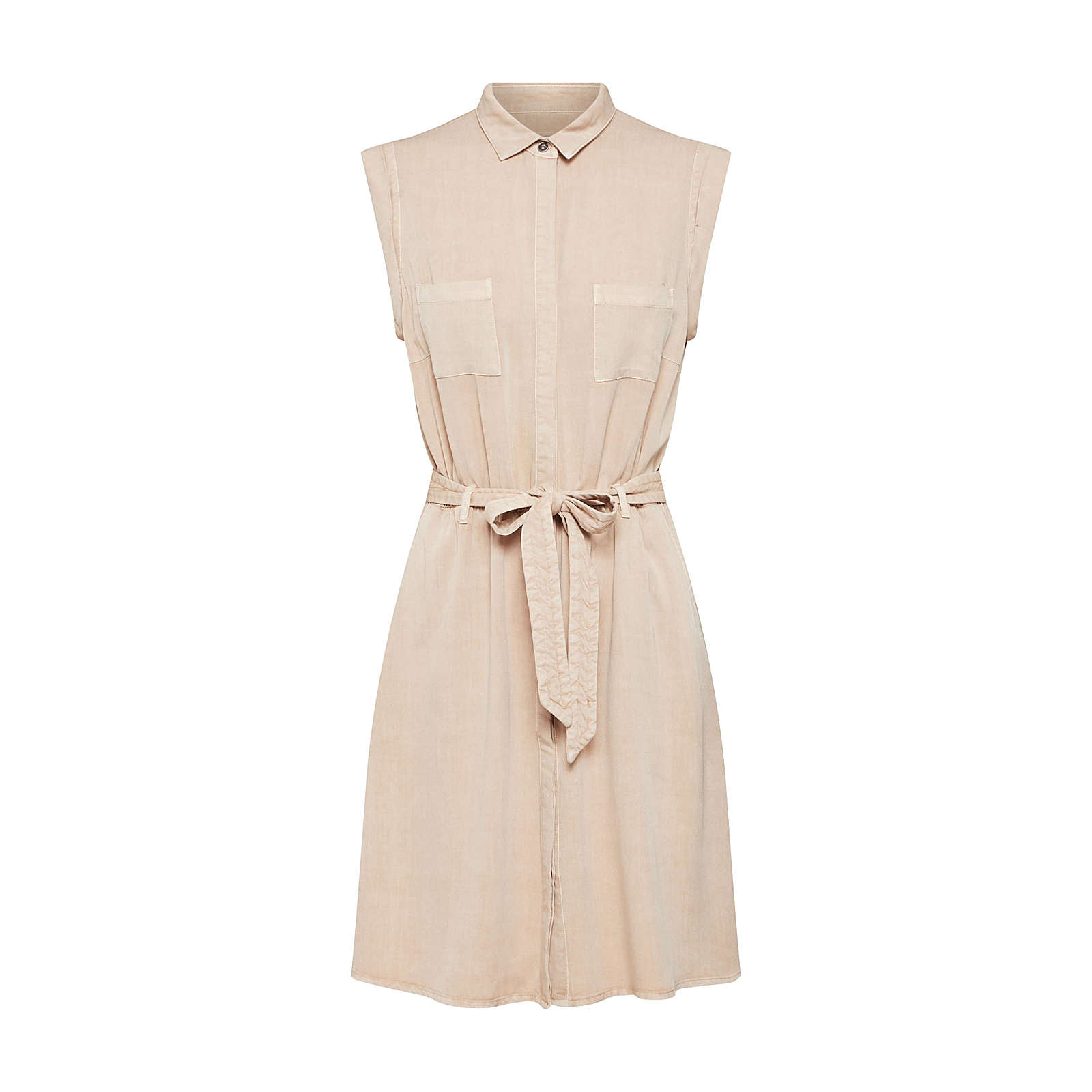 Review Blusenkleid Blusenkleider beige Damen Gr. 42