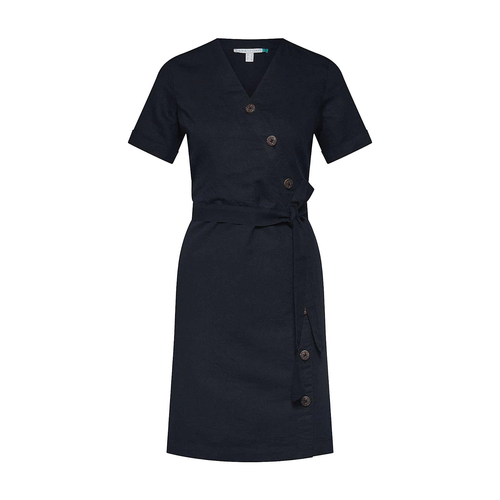 ESPRIT Blusenkleid Blusenkleider schwarz Damen Gr. 34