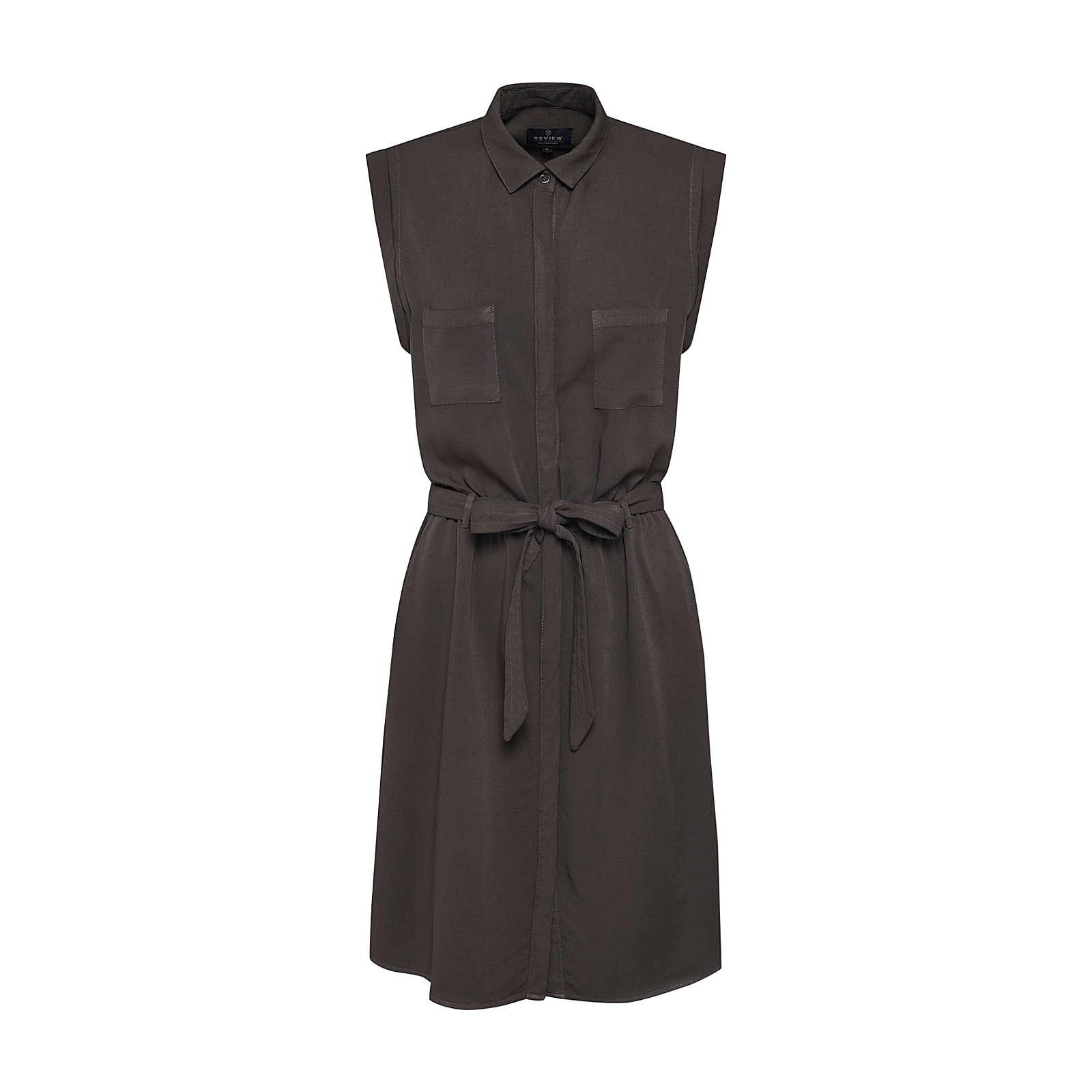 Review Blusenkleid Blusenkleider oliv Damen Gr. 34