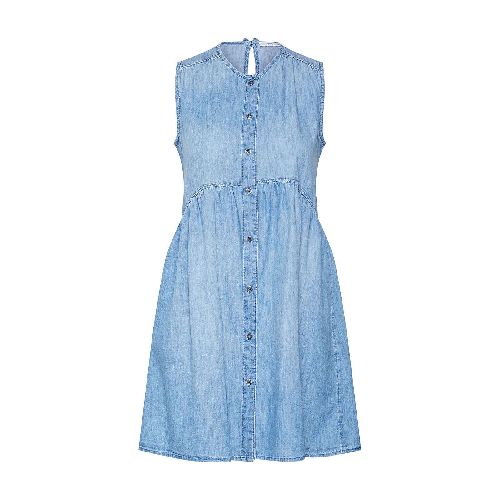 EDC BY ESPRIT Kleid MidWashCotton Jeanskleider blue denim Damen Gr. 36