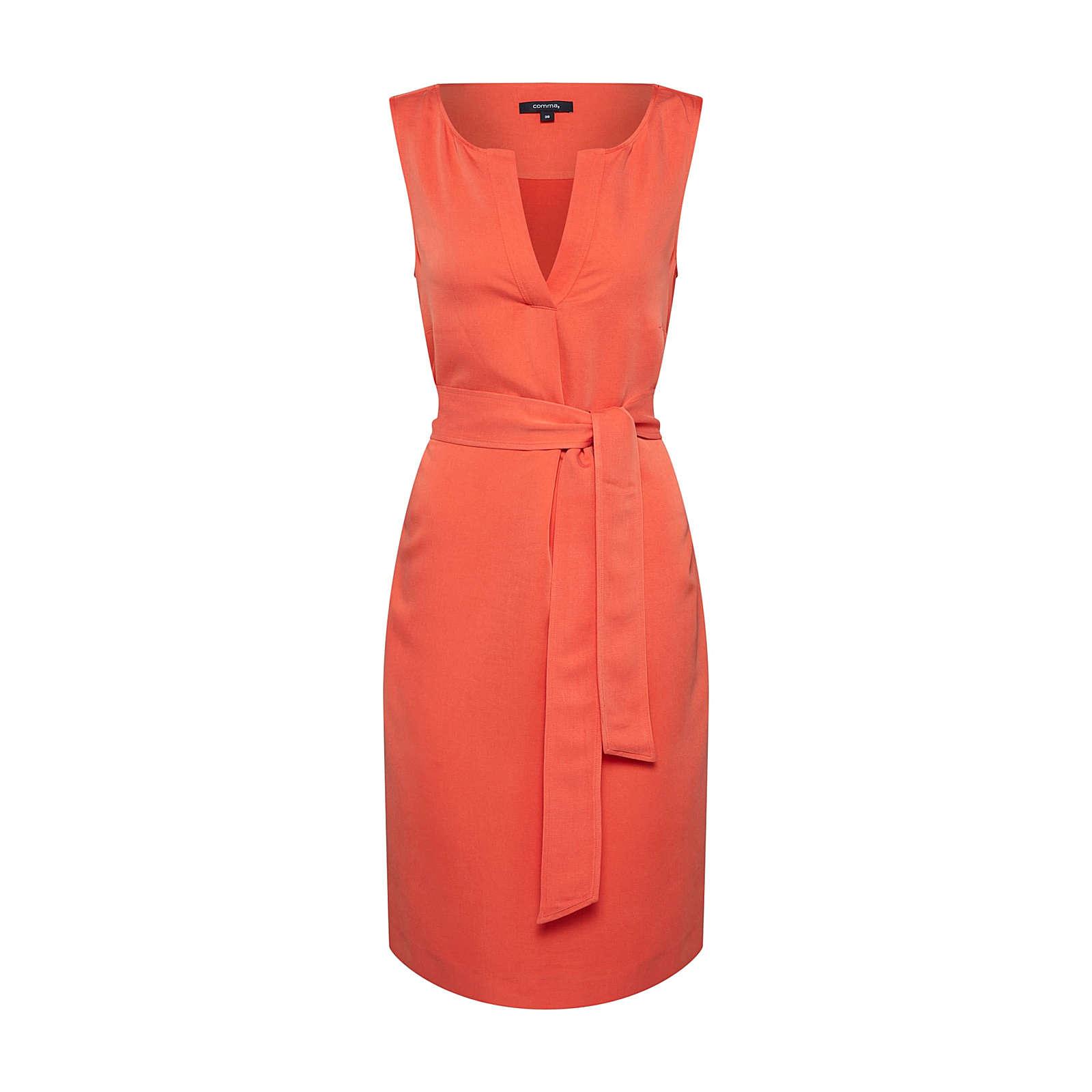 COMMA Sommerkleid Sommerkleider orange Damen Gr. 42