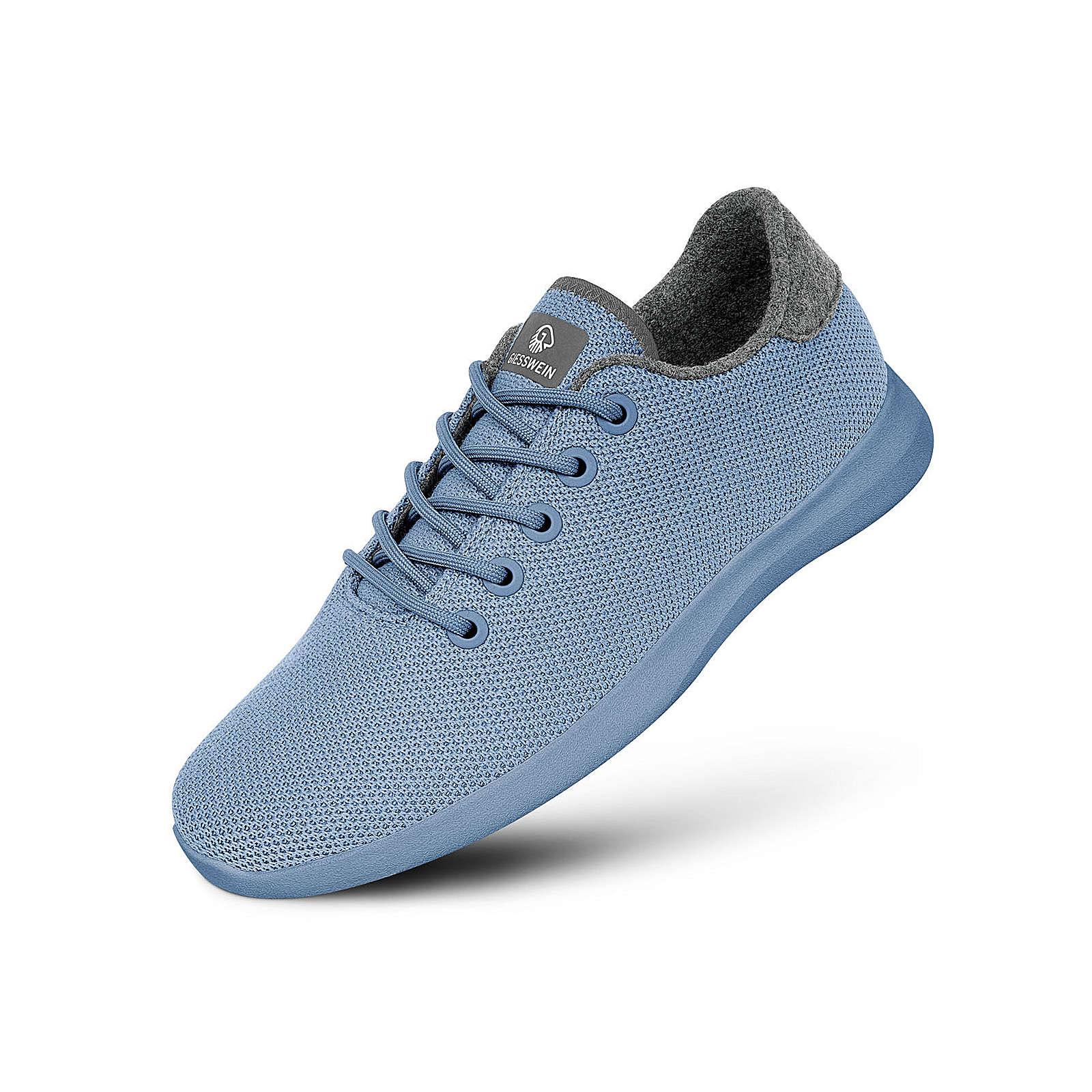 Giesswein Wollsneaker Merino Wool Knit Men Sneakers Low hellblau/creme Herren Gr. 43