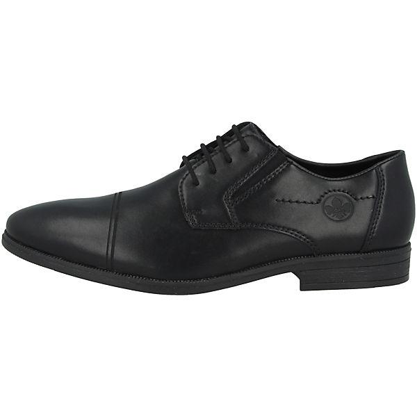 schnürschuhe Schwarz Rieker Business Schuhe Turin rExeQodCBW
