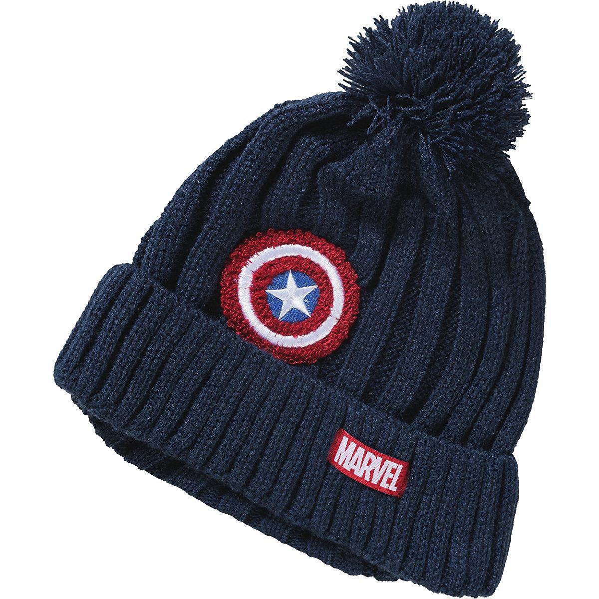 Marvel Avengers, Avengers Set, Mütze + Schlauchschal Für Jungen, Blau