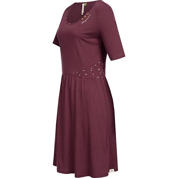 Apolena Jerseykleid Rot Sommerkleider Ragwear Organic y8vmO0wNn
