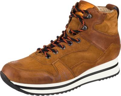 Paul Green, Hightop Sneaker Winterstiefeletten, cognac