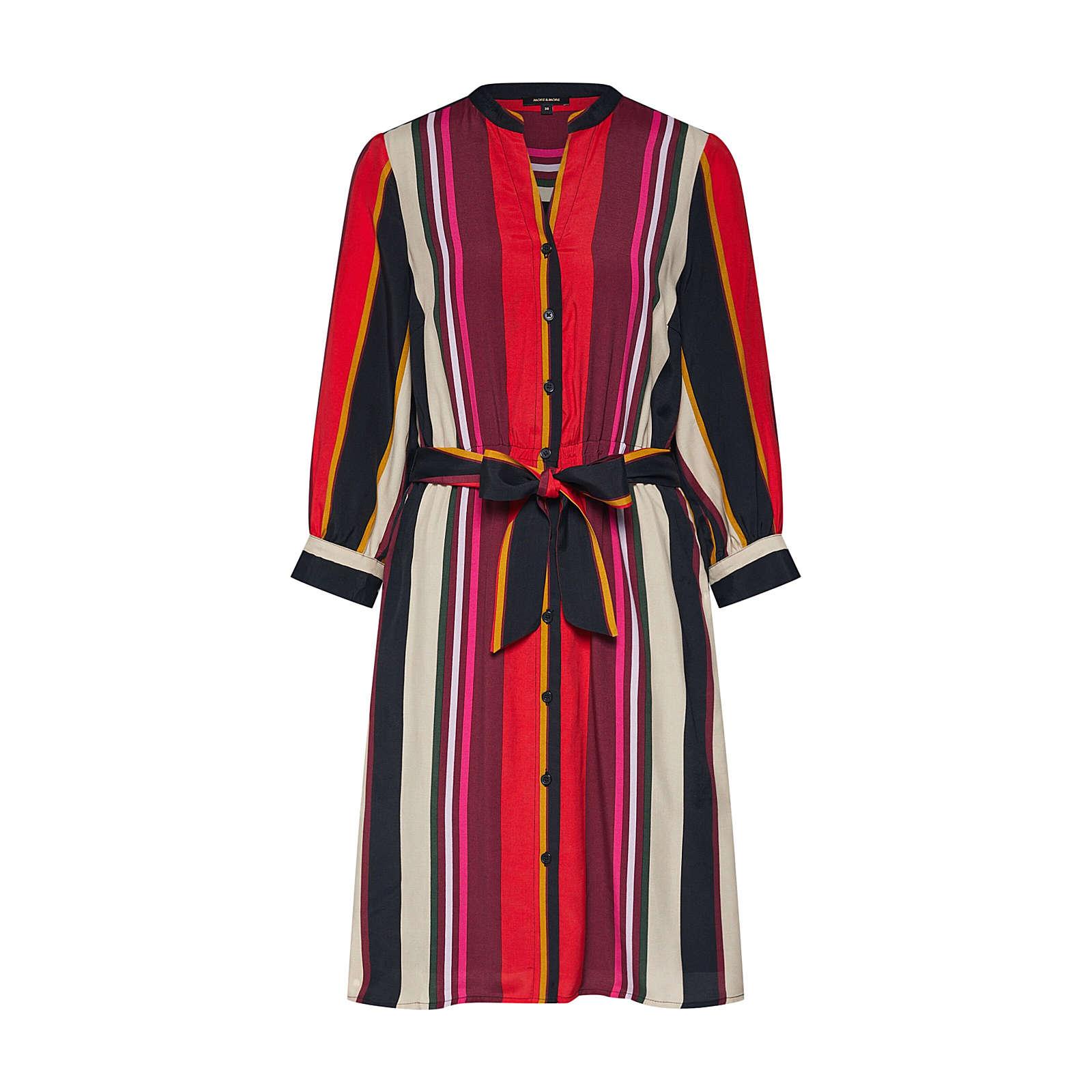 MORE & MORE Blusenkleid Blusenkleider schwarz Damen Gr. 42