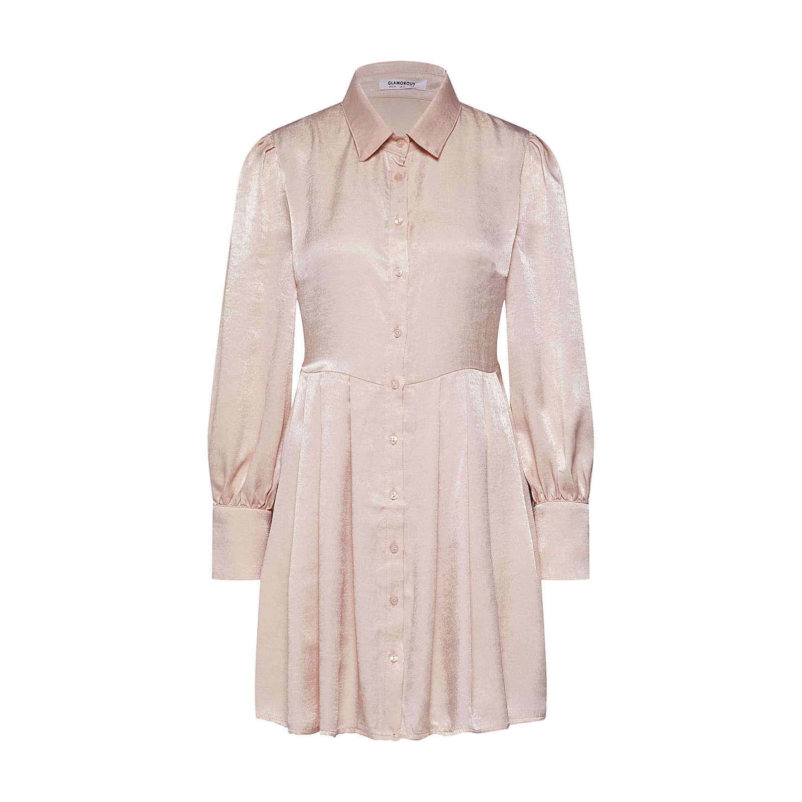 GLAMOROUS Blusenkleid Blusenkleider rosa Damen Gr. 38