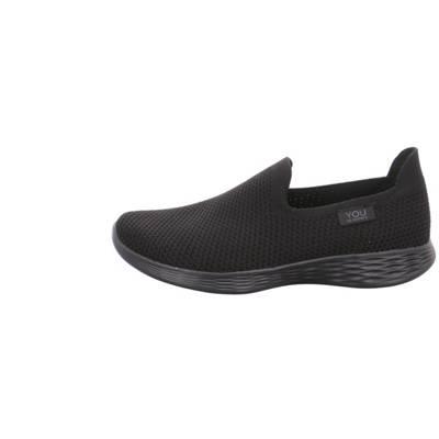 SKECHERS GO WALK 2 Schwarz BBK Damen Schuhe Slipper 13590 BBK Schwarze Sohle NEU