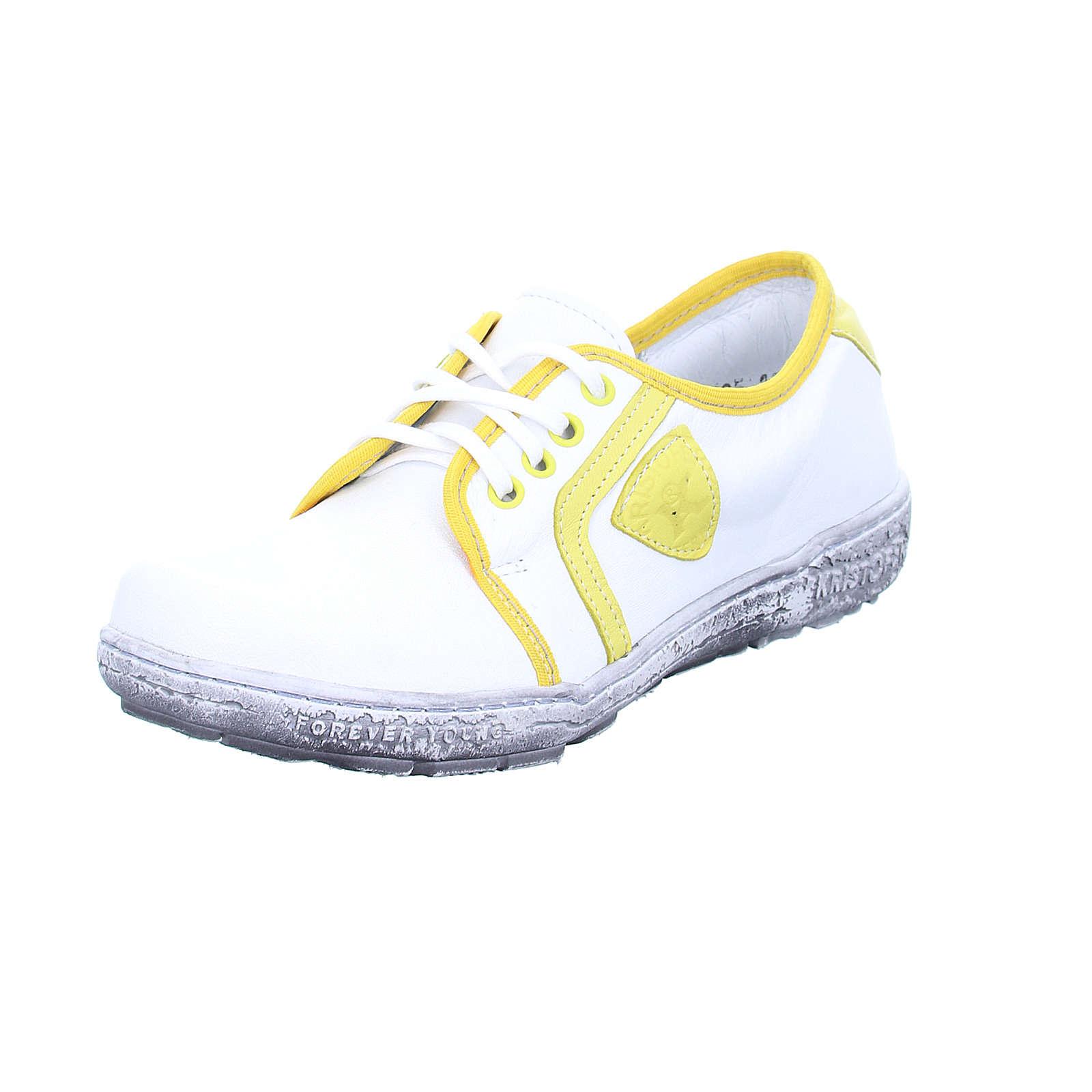 Kristofer Damen Sneaker P2036 Schnürschuhe weiß Damen Gr. 37