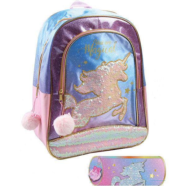 Jacob UNI2975720S Jacob Rucksackset Unicorn, 2-tlg.