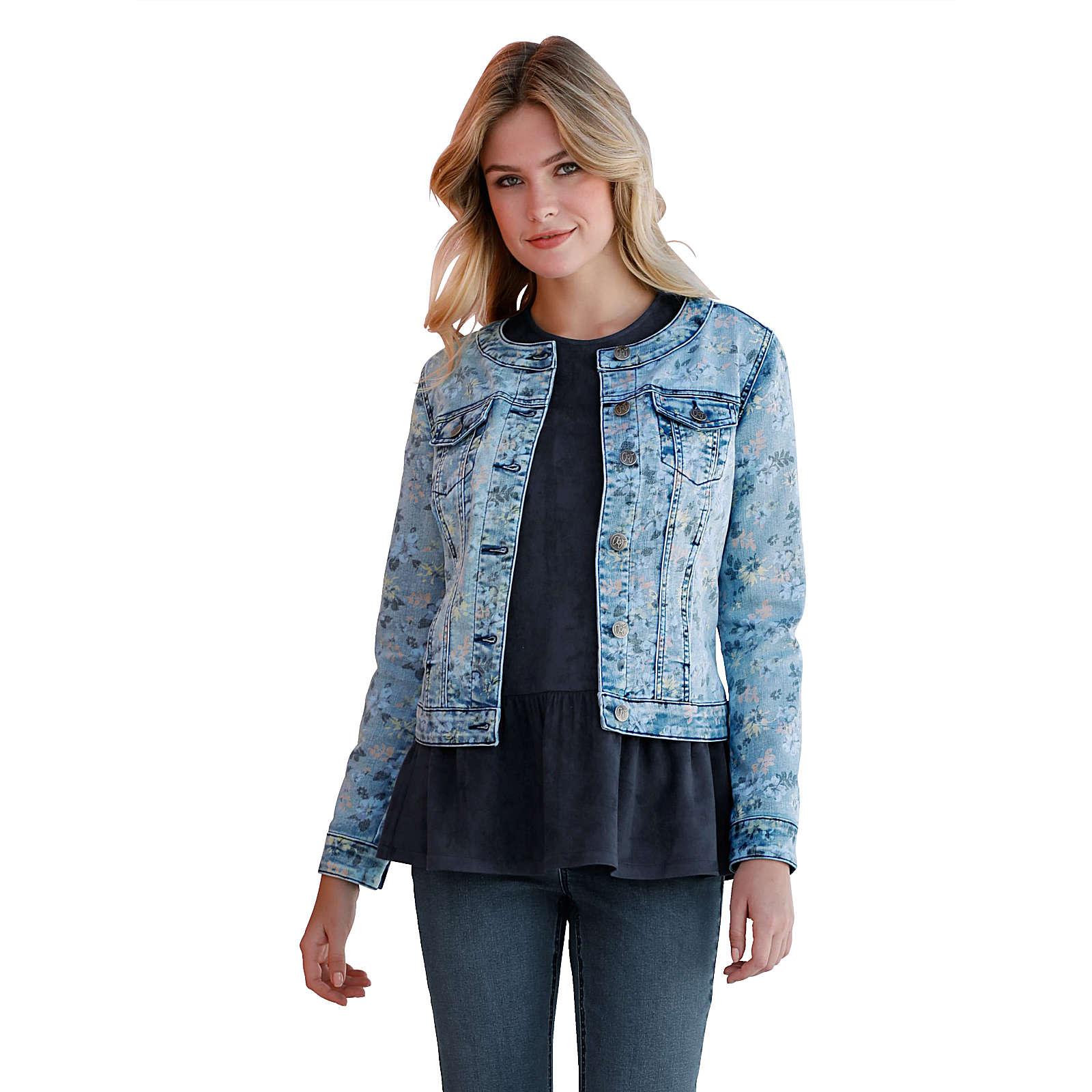 Amy Vermont Jeansjacke blau Damen Gr. 48