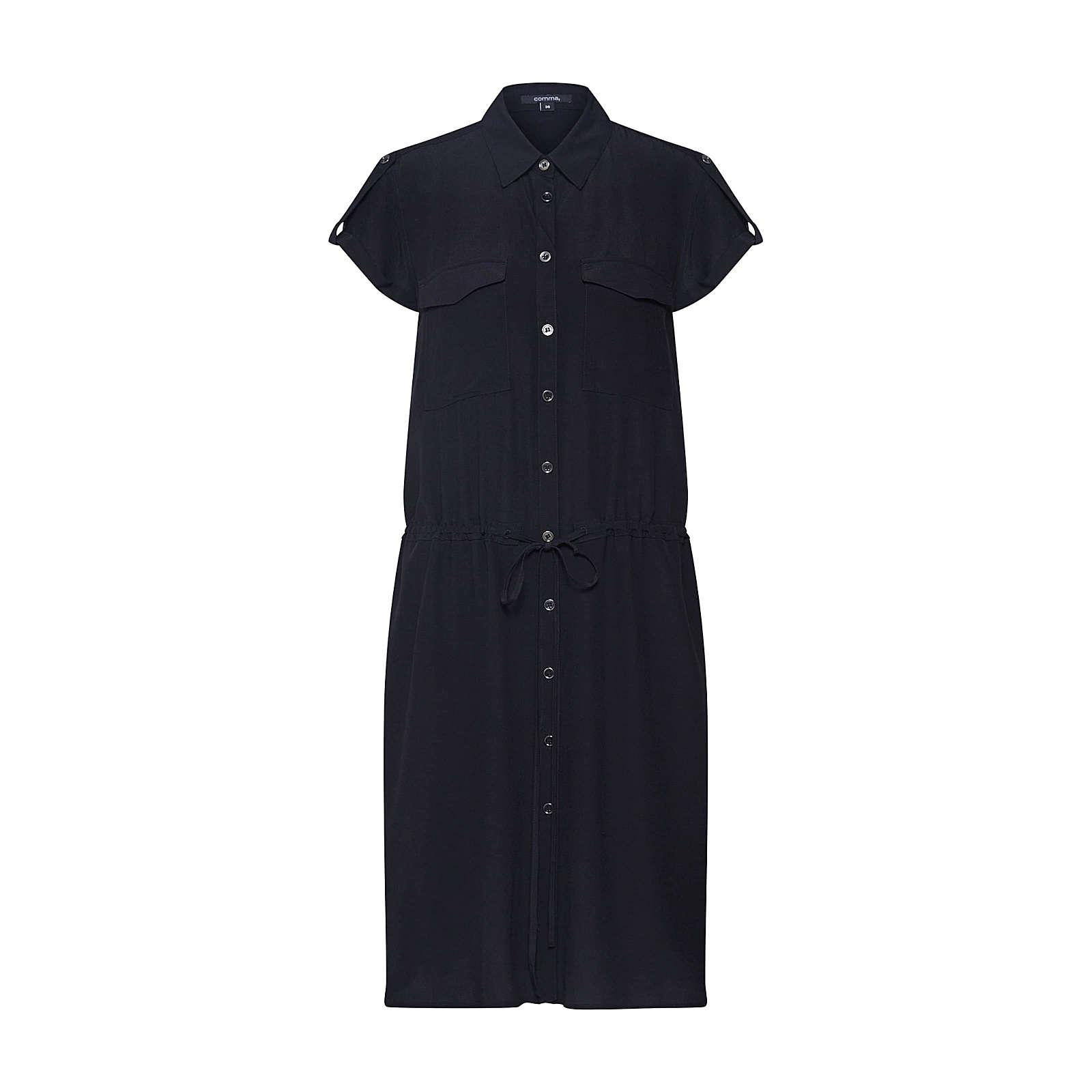 COMMA Blusenkleid Blusenkleider schwarz Damen Gr. 40