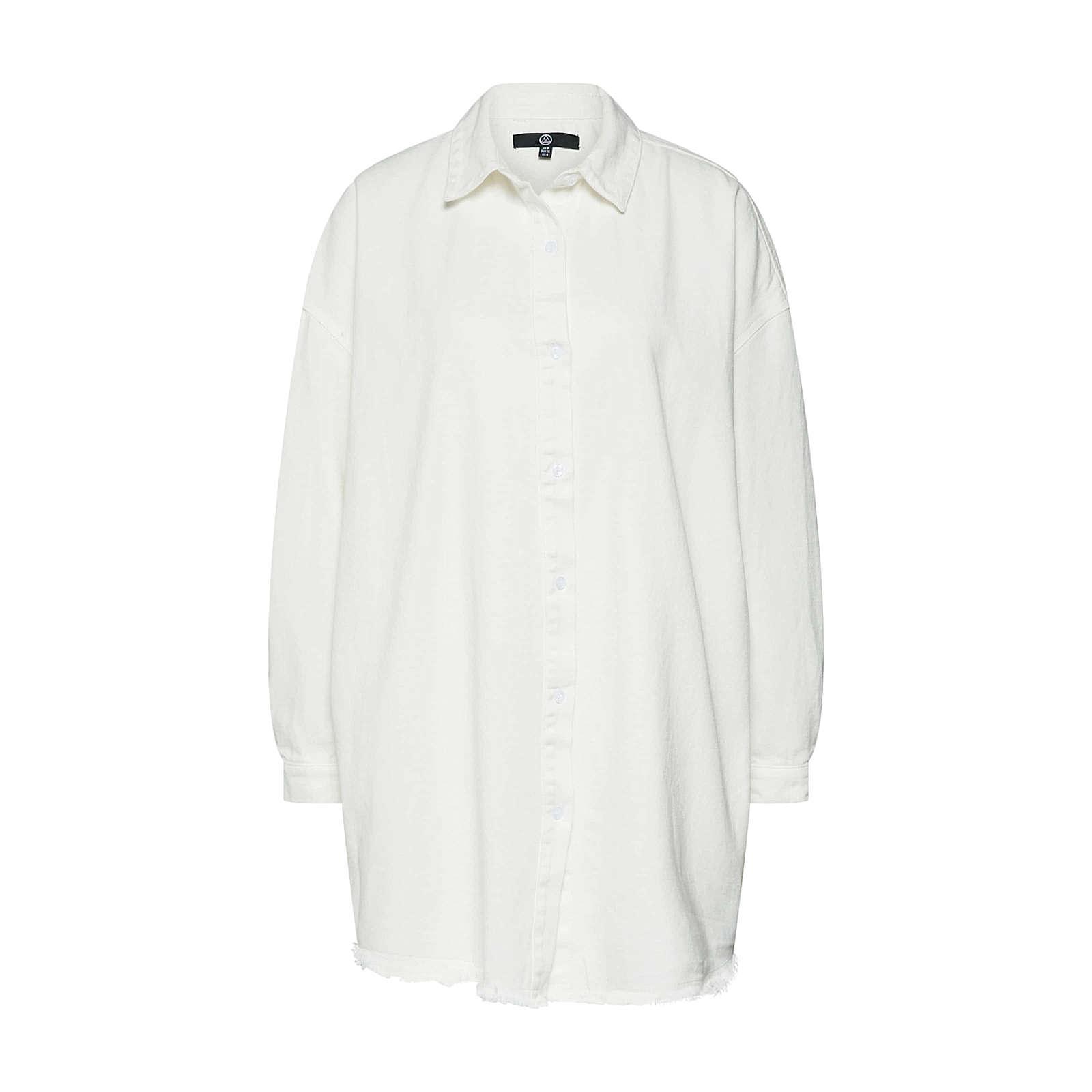 Missguided Blusenkleid Blusenkleider weiß Damen Gr. 42