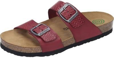 Bronze Fußbett Pantoletten Leder Damen Sandalen Doc Comfort Schuhe