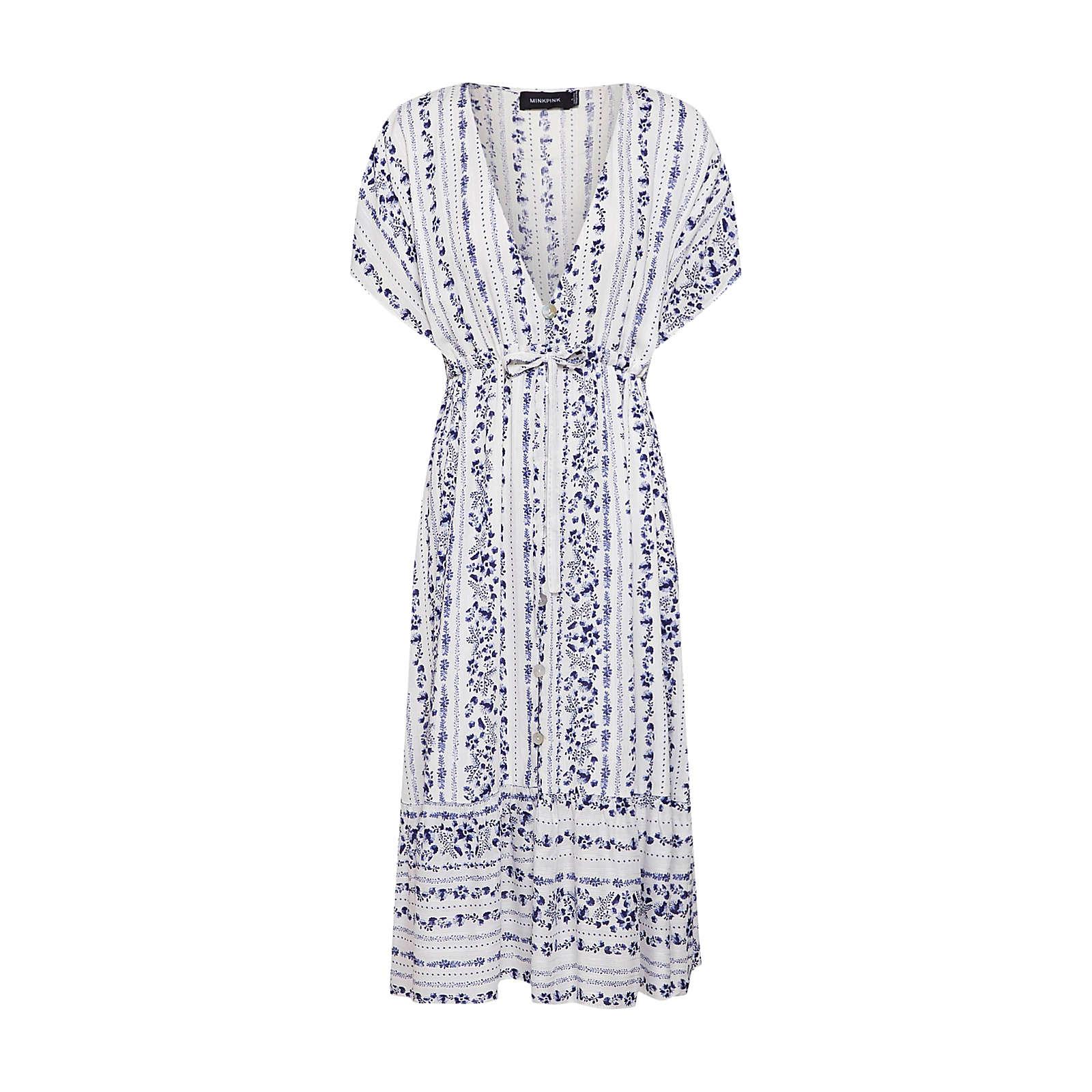 MINKPINK Sommerkleid Sommerkleider weiß Damen Gr. 34