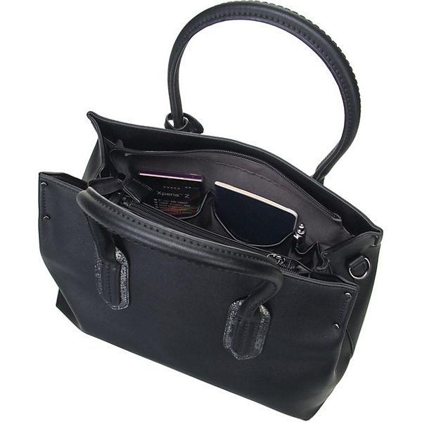 Handtasche LCredi Handtaschen credi 1914 L Schwarz Bea 80OnwNvm