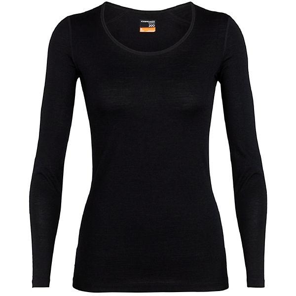 Scoop 200 Ls Langarmshirts Shirt Schwarz Icebreaker Oasis NwmO8n0v