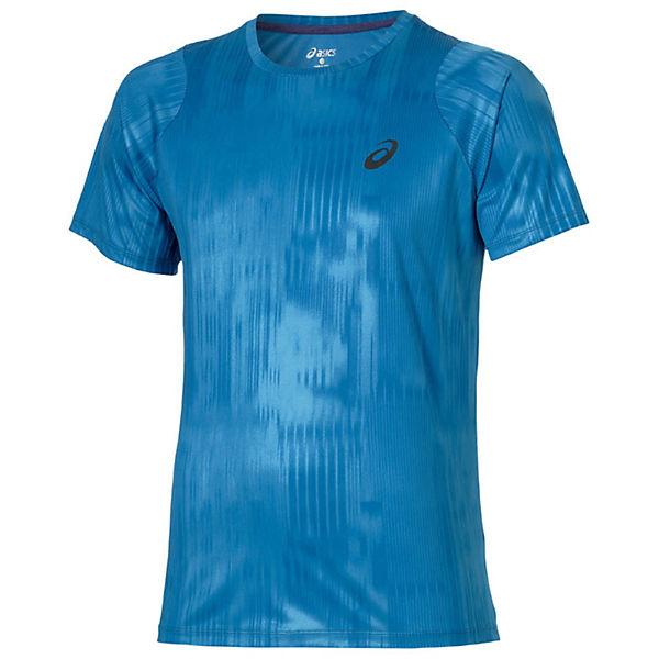 Tee Blau shirt shirts Fuzex T T Asics Printed dorCxWBe