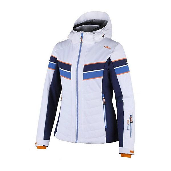 Hood Ski Weiß Cmp Jacket Outdoorjacken Zip Jacke Stretch 5j3LA4Rq