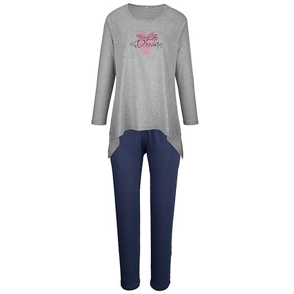 Simone grau grau Schlafanzug Simone Blau Schlafanzug Blau Simone Schlafanzug WDYH2I9E