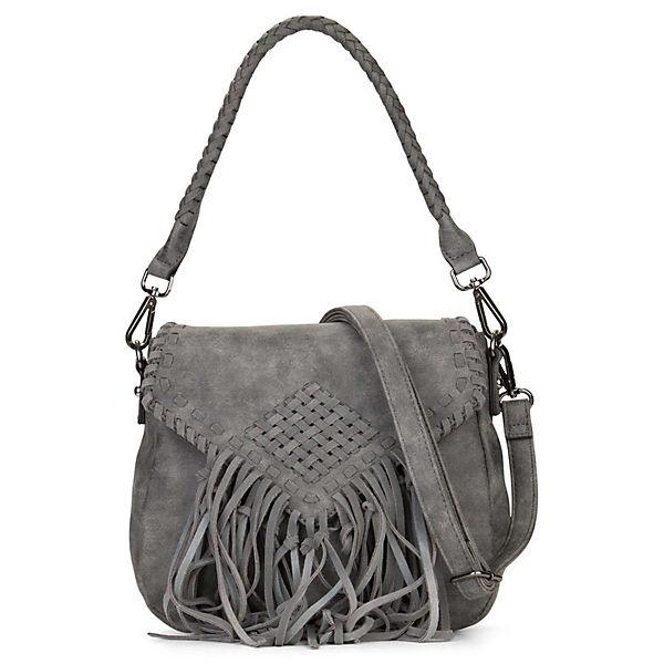 Emilyamp; 2 Überschlag Handtasche Umhängetaschen Dunkelgrau Mit Samantha Noah No 5jLAR4