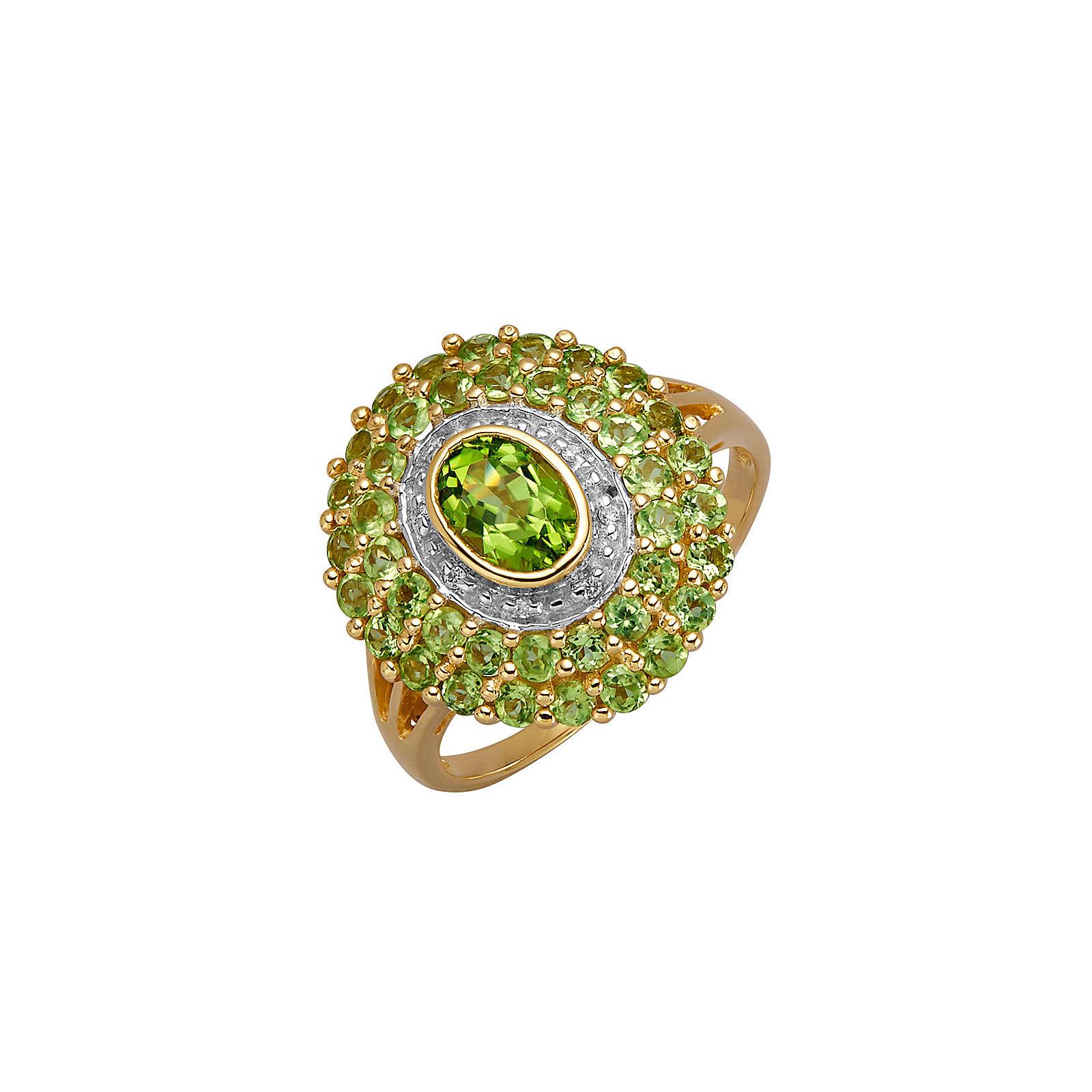 Diemer Farbstein Damenring mit Peridot grün Damen Gr. 60