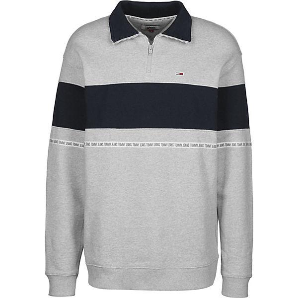 Sweater Zip Tommy Tape Sweatshirts Grau Jeans vNn8wOm0