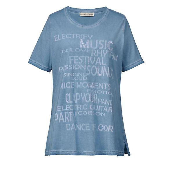 Janetamp; Blau Joyce Mit Pailletten Shirt SUVpzM