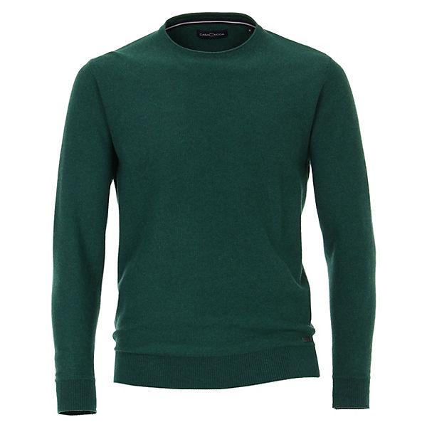 Pullover Mit Uni Casamoda Dunkelgrün Rundhalsausschnitt EH9DWY2I