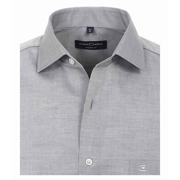 Casamoda Grau Nah Hemd Uni Langarmhemden P0NnwkZ8XO