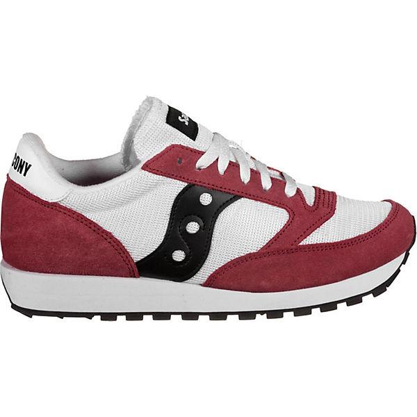 Original Sneakers Jazz Low Vintage Schuhe Saucony bordeaux Weiß lKF1J3uTc