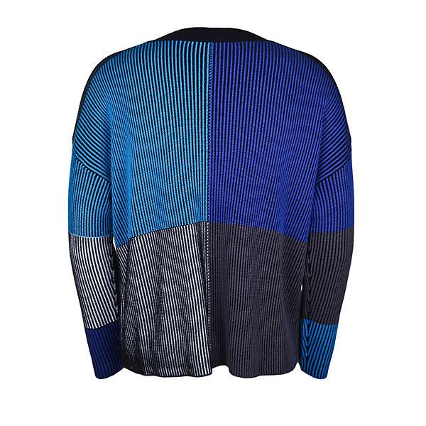 Streifenmuster Blau Mit Streich Pullover Doris VUzpMS