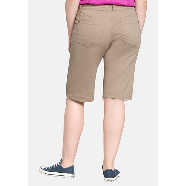 Im stil Beige pocket Sheego Five Shorts vf6yYb7g
