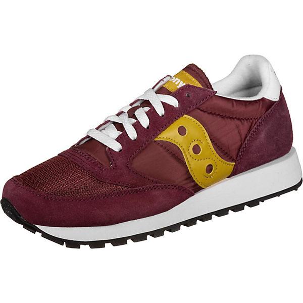 Schuhe Low Original Sneakers Vintage Rot kombi Saucony Jazz N0wm8n