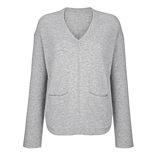 Alba Alba Pullover Moda Moda Pullover Pullover Grau Alba Grau Moda Grau Alba m8n0vwOPyN