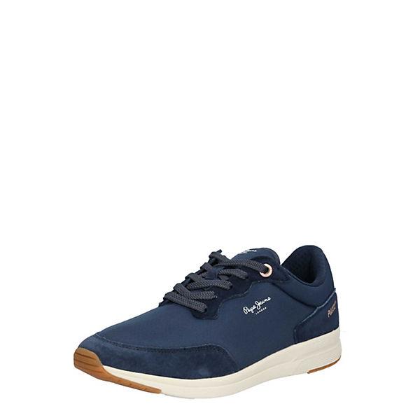 Sneakers Pepe Jayker Blau Sneaker Low Basic Jeans P8kwNnOZ0X