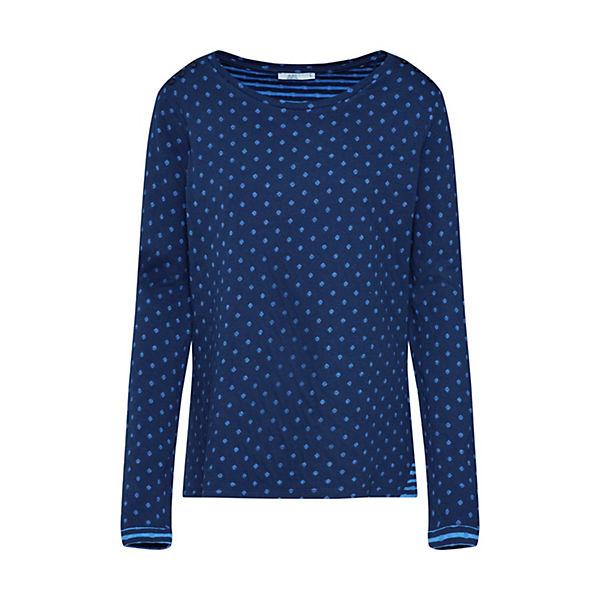 Shirt Blau Edc By Esprit Noos Langarmshirts htxrsQdC