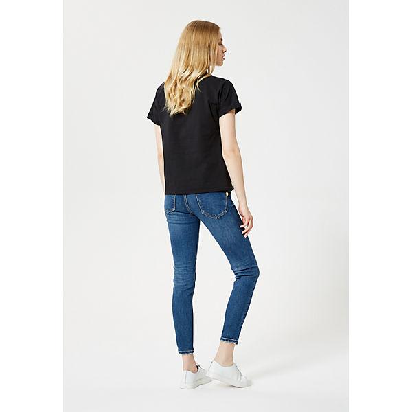Blue T Schwarz shirt Label Usha 6yf7gb