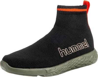 hummel, Sneakers Low TERRAFLY SOCK RUNNER CAMO JR für Jungen, dunkelgrün